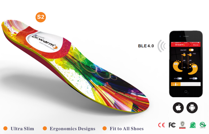 S-King-Wireless Heated Insoles, Heated Insoles Smartphone- Controlled Wireless-1