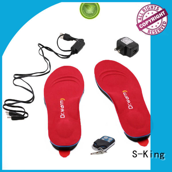 S-King Brand heated controlled shoes huntingskiingfishing heated insoles