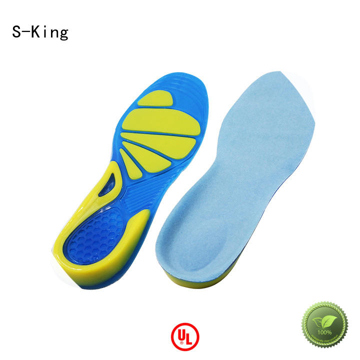 S-King High-quality gel comfort insoles for running shoes