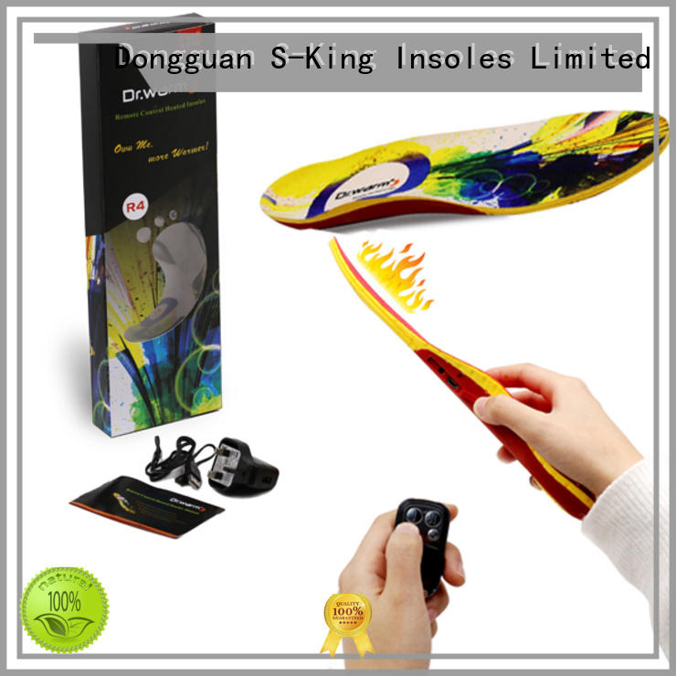 Wholesale foot battery heated insoles heated S-King Brand
