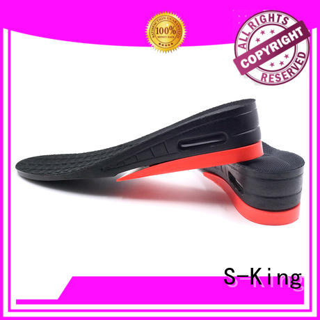 S-King Brand heels shoes elevator shoe height insoles