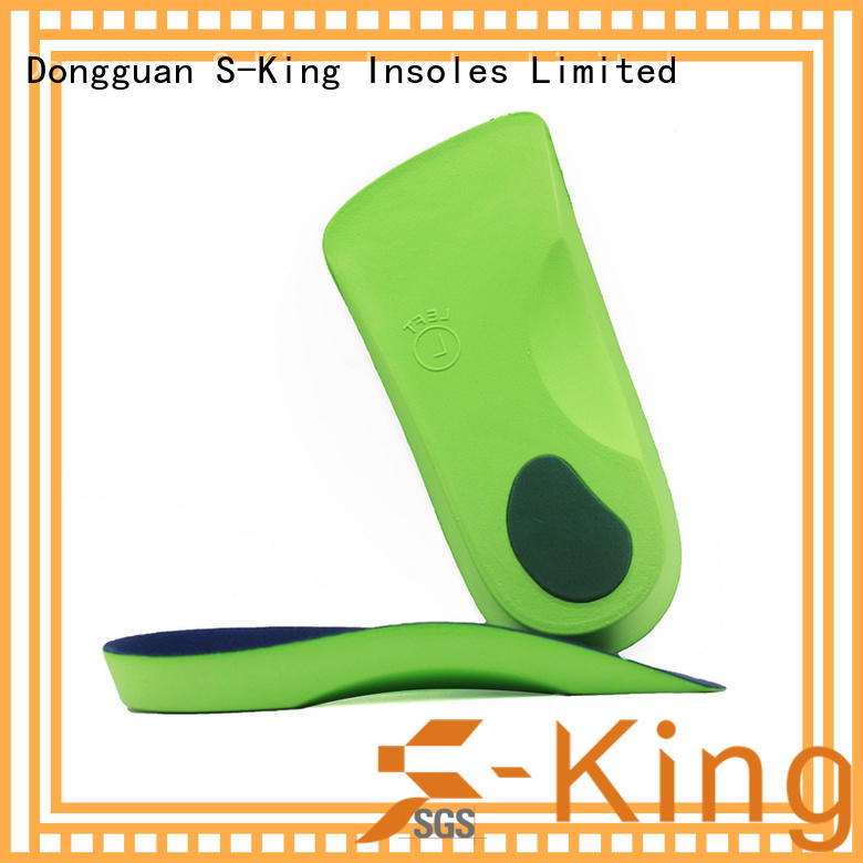 3/4 eva cushion insole, high arch support orthopedic insole for flat foot