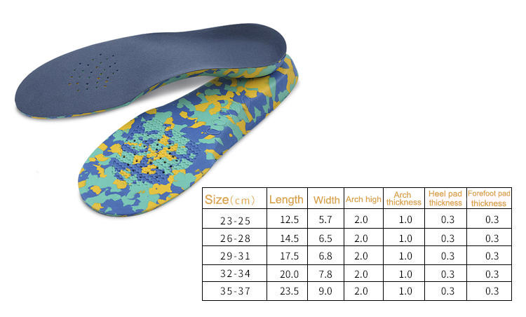 S-King-Kid Insoles, Kids Insoles Orthotic Inserts Comfort Arch Support, Shock