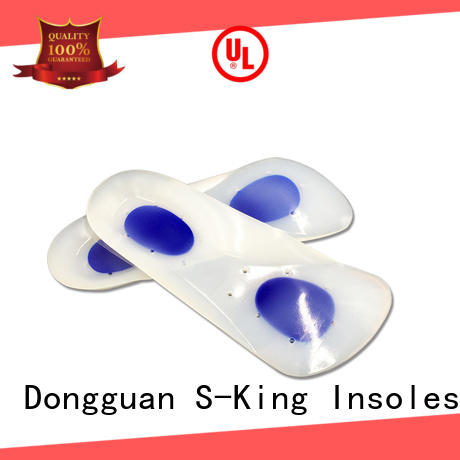 Top silicone shoe pads insole for relieve stress