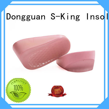 PU gel women shoes hidden height increase insole lifts-up cushion pad for shoes
