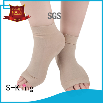 S-King comfortable heel care socks customized man's sports