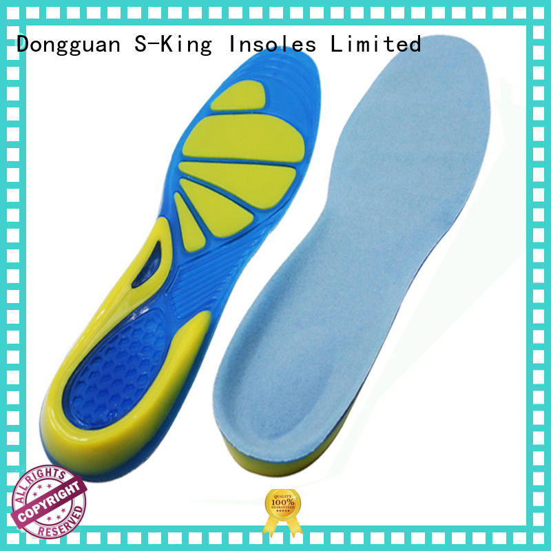 S-King replacement gel insoles for shoes reduce stress jumping