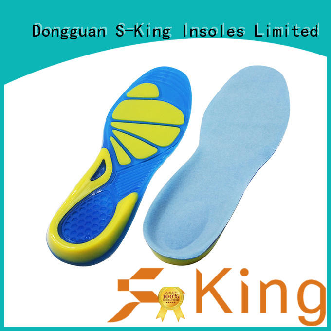 S-King inserts gel active insoles spread pressure for foot care