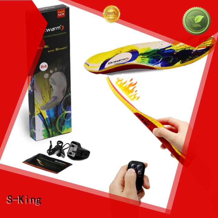 S-King Brand warmer smartphone battery heated insoles battery
