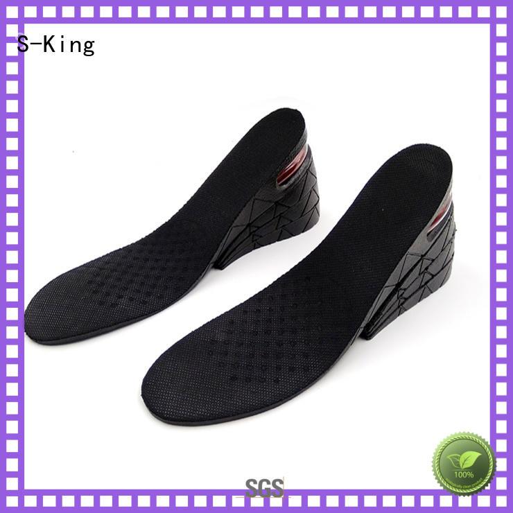 men insert heels S-King Brand shoe height insoles manufacture