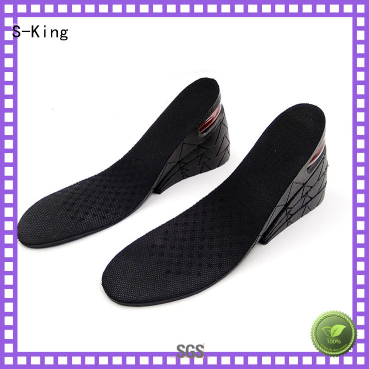men insert heels S-King Brand shoe height insoles manufacture