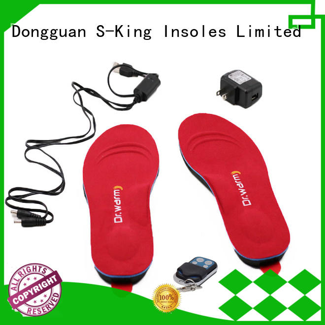 winter battery insole rechargeable battery heated insoles S-King Brand