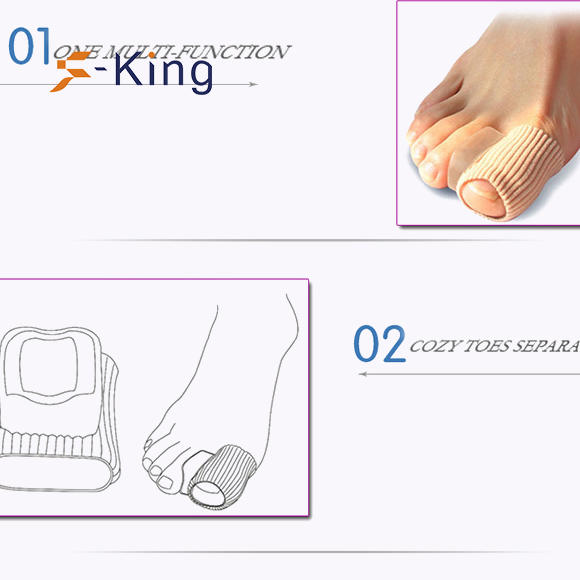 S-King-Gel Toe Separator Manufacture | Fabric Gel Hallux Valgus, Bunion Toe Separator-1
