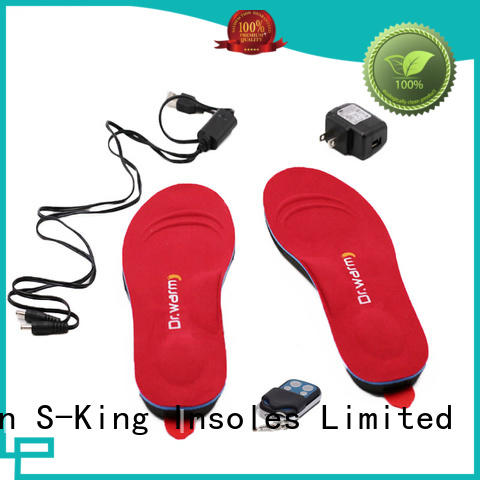 Quality S-King Brand battery heated insoles shoes