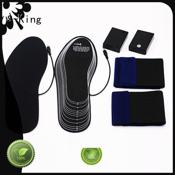 Hot battery heated insoles electric S-King Brand