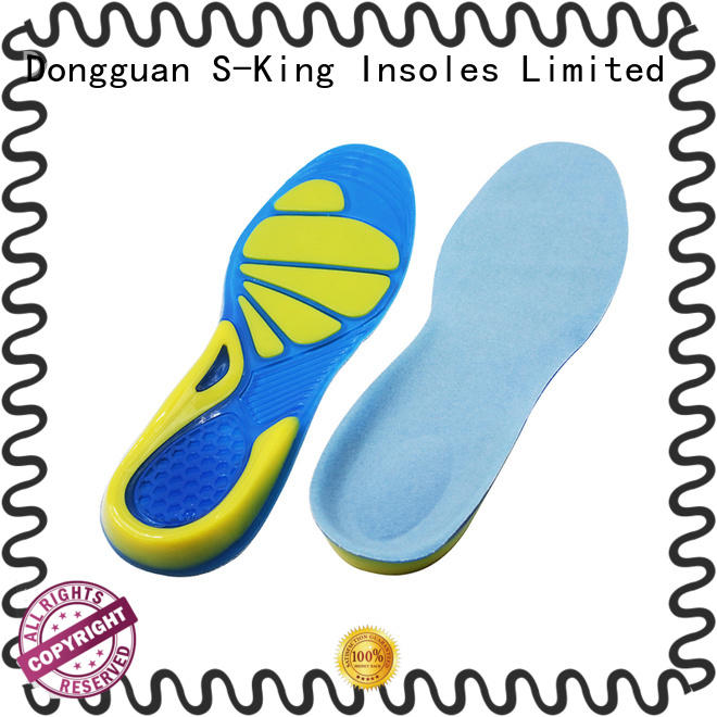 Foot balance shock absorption Antibacterial gel sports insoles