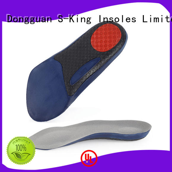 Anti-slip 3/4 half pad wicking shock absorption arch support insole with soft thin section velvet