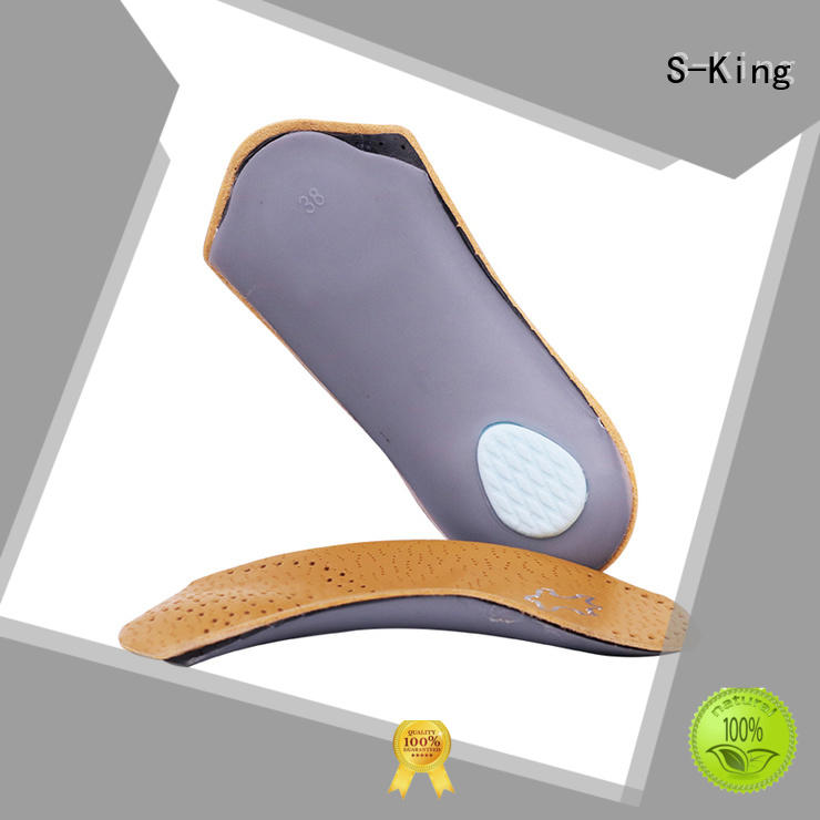 S-King orthopedic orthotic arch support insoles anti for sports