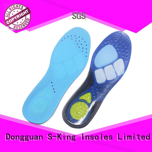 sports cooling gel insoles women for foot care S-King