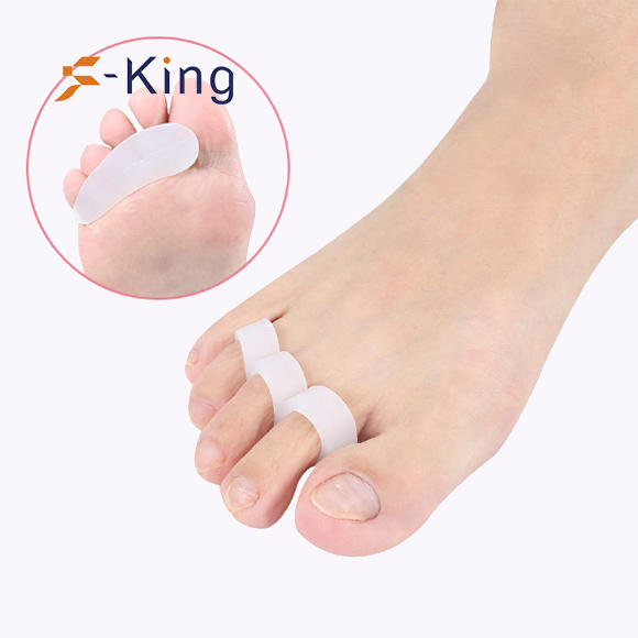 S-King-Gel Toe Spacers Three Hole Soft Gel Straightener Toe Separator Straighten -1