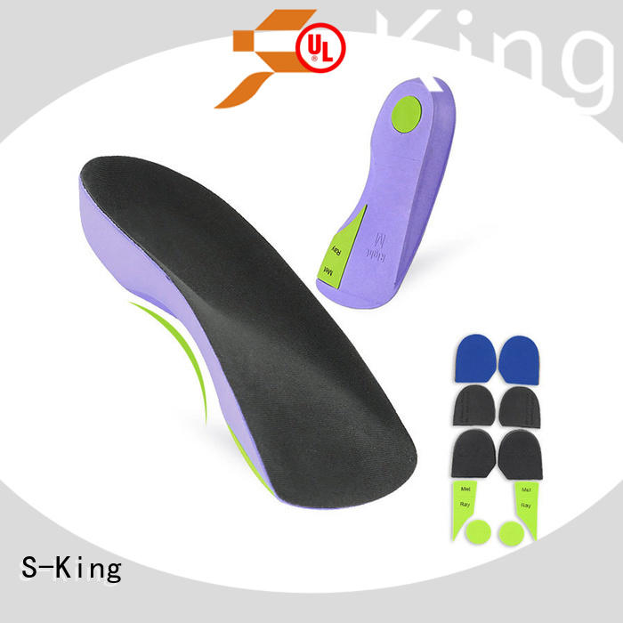 S-King breathable custom made shoe inserts orthotics with arch support for stand
