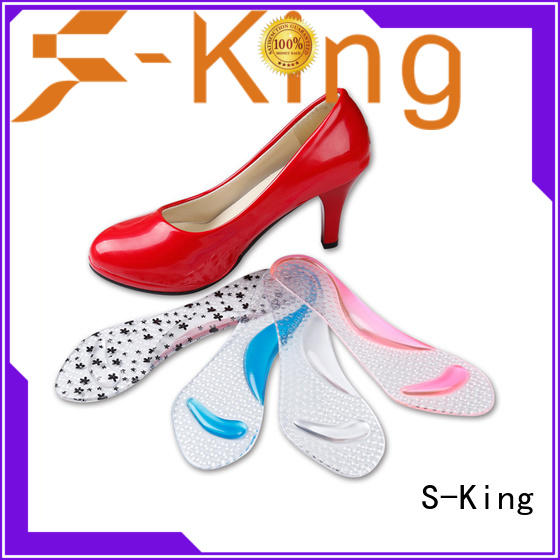 S-King water resistant insoles for women's shoes ergonomic design for golfing
